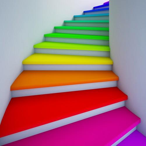 Möbelfolie Bunte Treppe – Bild 3