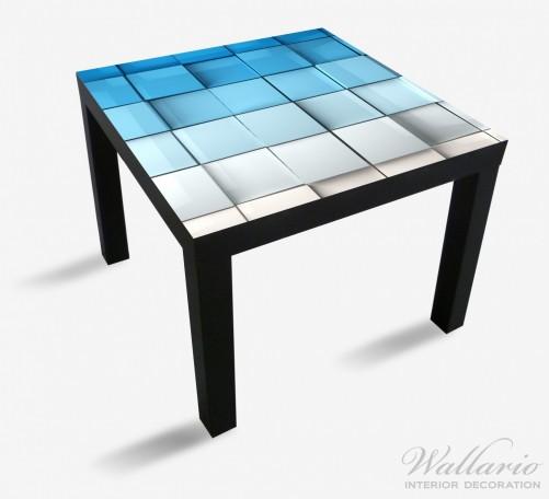 Möbelfolie Blau-weiße Kisten, Schachteln, Muster – Bild 1