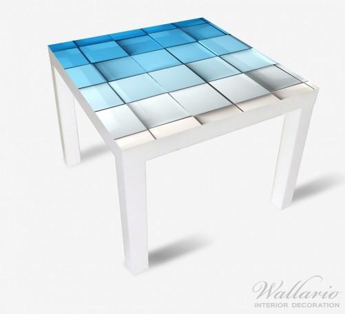 Möbelfolie Blau-weiße Kisten, Schachteln, Muster – Bild 2