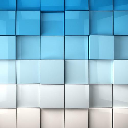 Möbelfolie Blau-weiße Kisten, Schachteln, Muster – Bild 3