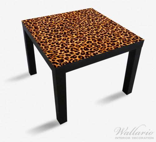 Möbelfolie Leopardenmuster  in orange schwarz – Bild 1