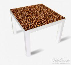 Möbelfolie Leopardenmuster  in orange schwarz – Bild 2