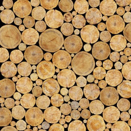 Möbelfolie Holzstapel rund – Bild 3