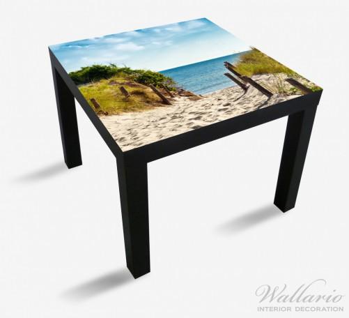 Möbelfolie Auf dem Sandweg zum Strand – Bild 1