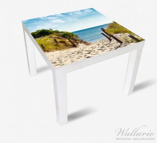 Möbelfolie Auf dem Sandweg zum Strand – Bild 2
