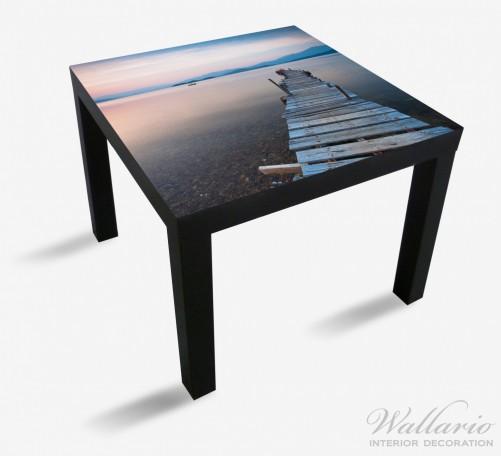 Möbelfolie Steg am See- Idylle bei Sonnenuntergang – Bild 1
