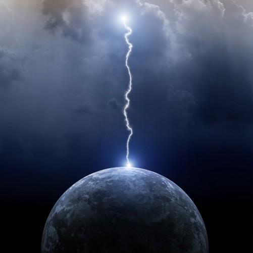 Möbelfolie Gewitter über der Erde – Bild 3