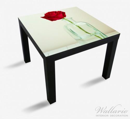 Möbelfolie Rote Rose in Glasvase – Bild 1