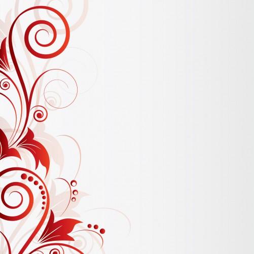 Möbelfolie Abstrakte rote Blumenschnörkel – Bild 3