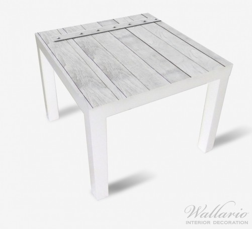 Möbelfolie Graue Holztür – Bild 2
