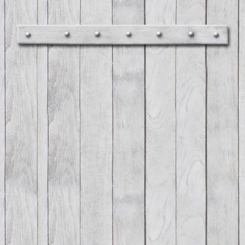 Möbelfolie Graue Holztür – Bild 3