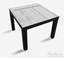 Möbelfolie Graue Holztür – Bild 1