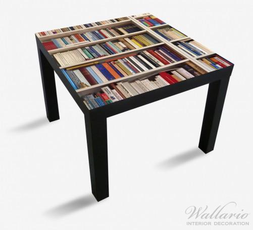 m belfolie wei es b cherregal mit unterschiedlichen b chern ikea m belfolien lacktisch 55x55. Black Bedroom Furniture Sets. Home Design Ideas