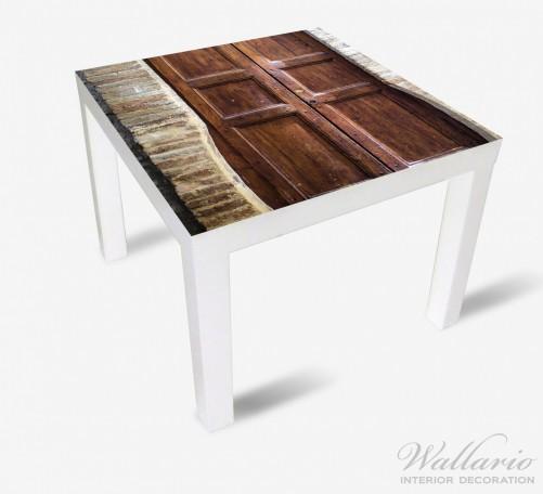 Möbelfolie Holztür braun – Bild 2