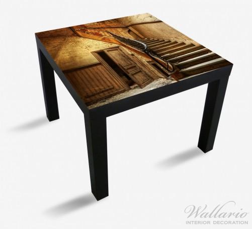Möbelfolie Rustikale Holztreppe – Bild 1
