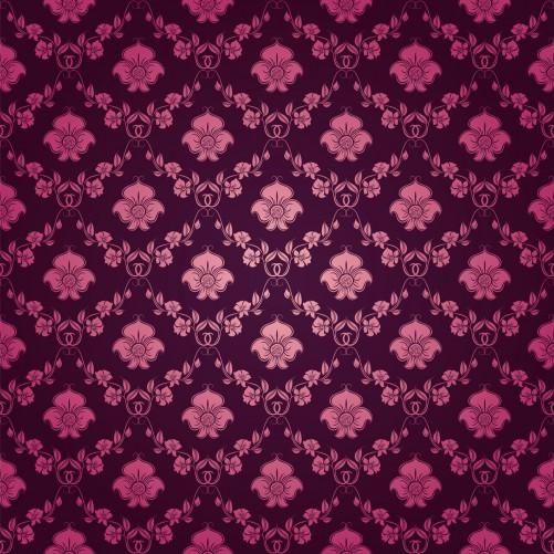 Möbelfolie Blumenmuster Damast in pink lila – Bild 3