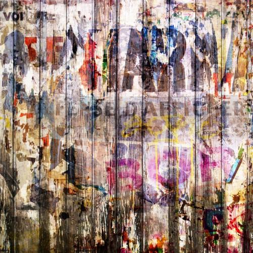 Möbelfolie Bemalte Holzplanken mit alter Schrift – Bild 3