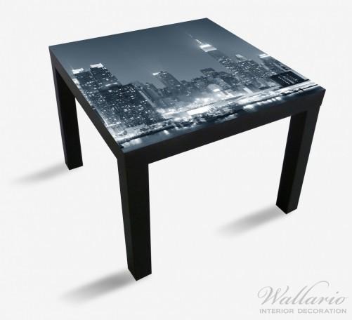 Möbelfolie New York Skyline - Schwarz Weiß Blau – Bild 1