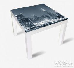 Möbelfolie New York Skyline - Schwarz Weiß Blau – Bild 2