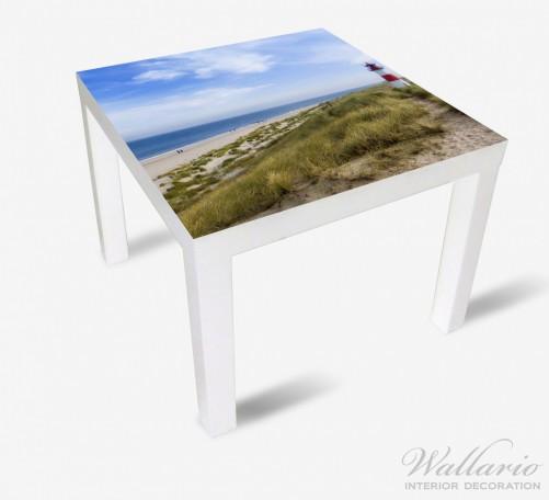 Möbelfolie Am Strand von Sylt  Leuchtturm auf der Düne  Panorama – Bild 2