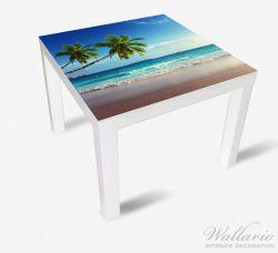 Möbelfolie Sandstrand auf den Seychellen - Urlaub unter Palmen – Bild 2