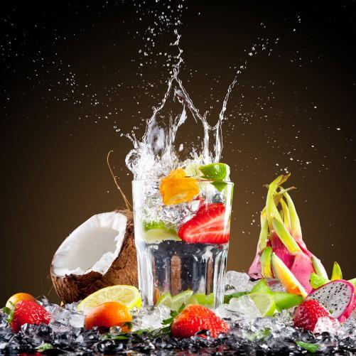 Möbelfolie Tropische Früchte in einem erfrischenden Drink – Bild 3