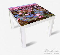 Möbelfolie Seerosenlandschaft mit rosa Blüten – Bild 2