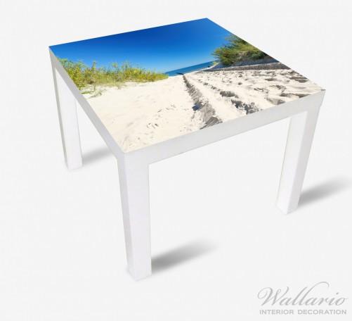 Möbelfolie Auf dem Sandweg zum Strand - Blauer Himmel über dem Meer – Bild 2