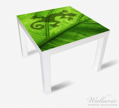 Möbelfolie Gecko Schatten auf grünem Blatt - Umriss – Bild 2