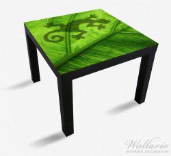 Möbelfolie Gecko Schatten auf grünem Blatt - Umriss – Bild 1