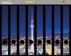 Ordnerrücken Sticker Fernsehturm Berlin bei Nacht