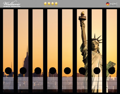 Ordnerrücken Sticker Freiheitsstatue New York