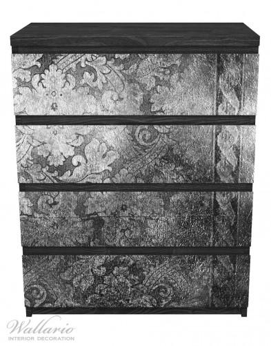 Möbelfolie Schnörkelmuster in grau – Bild 1
