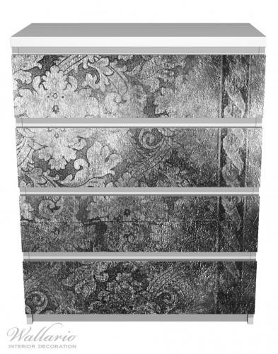 Möbelfolie Schnörkelmuster in grau – Bild 2