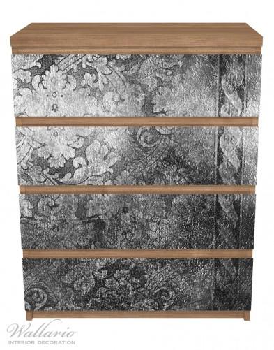 Möbelfolie Schnörkelmuster in grau – Bild 3