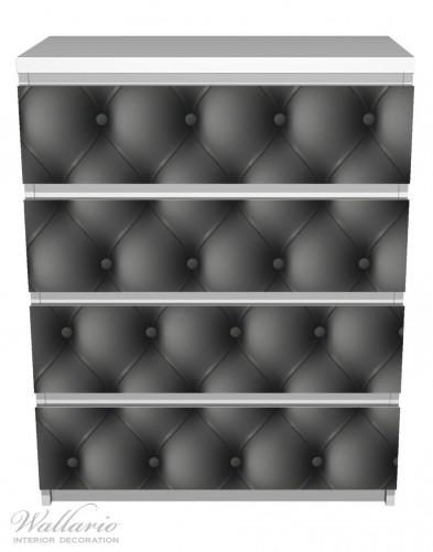 Möbelfolie Schwarze Ledertür – Bild 2