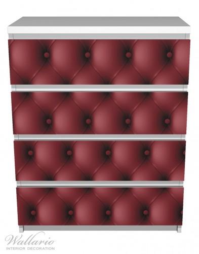 Möbelfolie Rote Ledertür – Bild 2