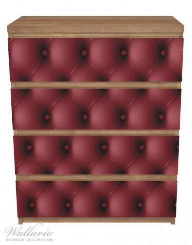Möbelfolie Rote Ledertür – Bild 3
