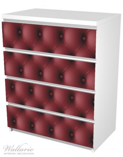 Möbelfolie Rote Ledertür – Bild 5