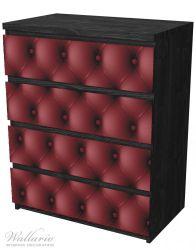 Möbelfolie Rote Ledertür – Bild 4