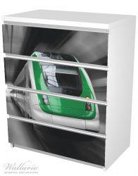 Möbelfolie Fahrender Zug von vorn in grün - Perspektive von vorn – Bild 5