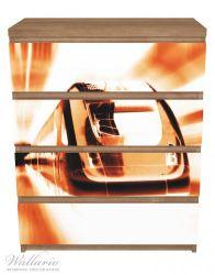 Möbelfolie Fahrender Zug von vorn Design - Perspektive von vorn – Bild 3