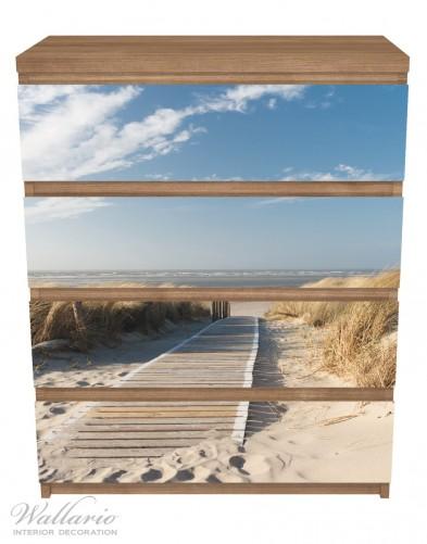 Möbelfolie Auf dem Holzweg zum Strand – Bild 3