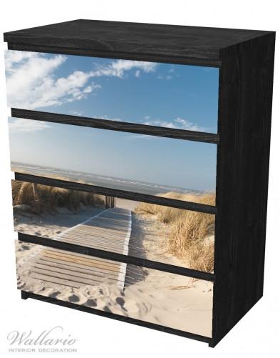 Möbelfolie Auf dem Holzweg zum Strand – Bild 4