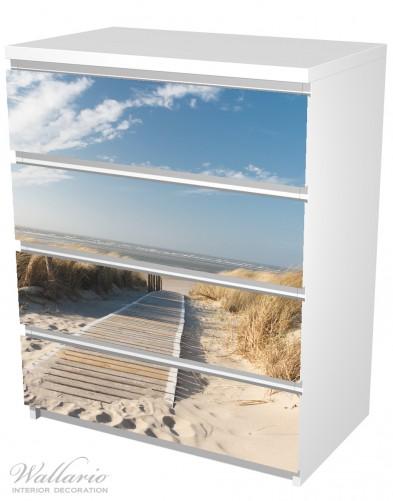 Möbelfolie Auf dem Holzweg zum Strand – Bild 5