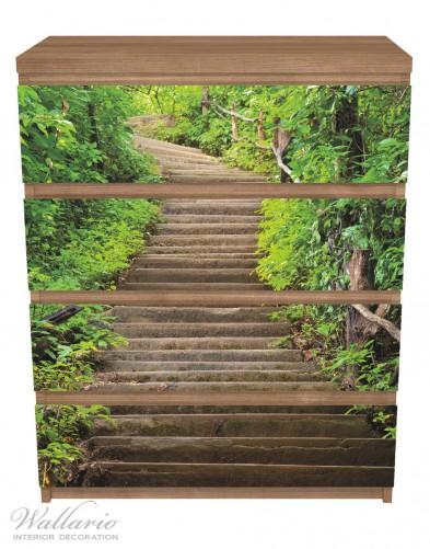 Möbelfolie Steintreppe im Wald – Bild 3