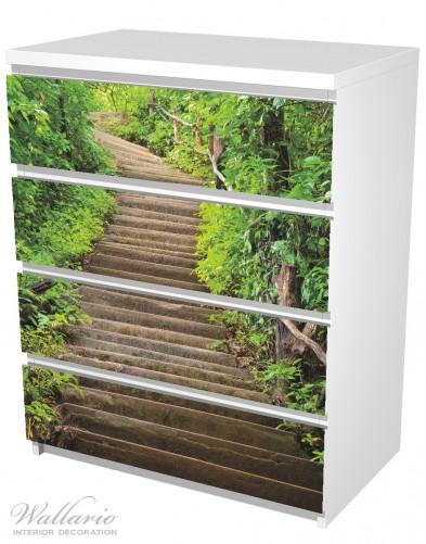 Möbelfolie Steintreppe im Wald – Bild 5
