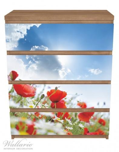 Möbelfolie Mohnblumen unter blauem Himmel – Bild 3