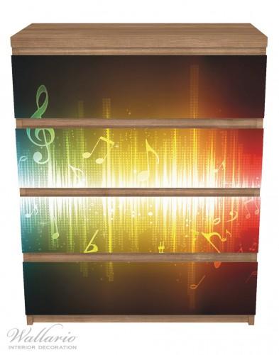 Möbelfolie Blau-gelbe Noten der Musik – Bild 3