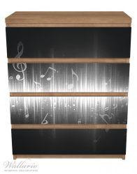 Möbelfolie Noten der Musik in schwarz und weiß – Bild 3